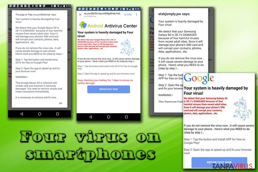 virus Four pada Android dan iphone